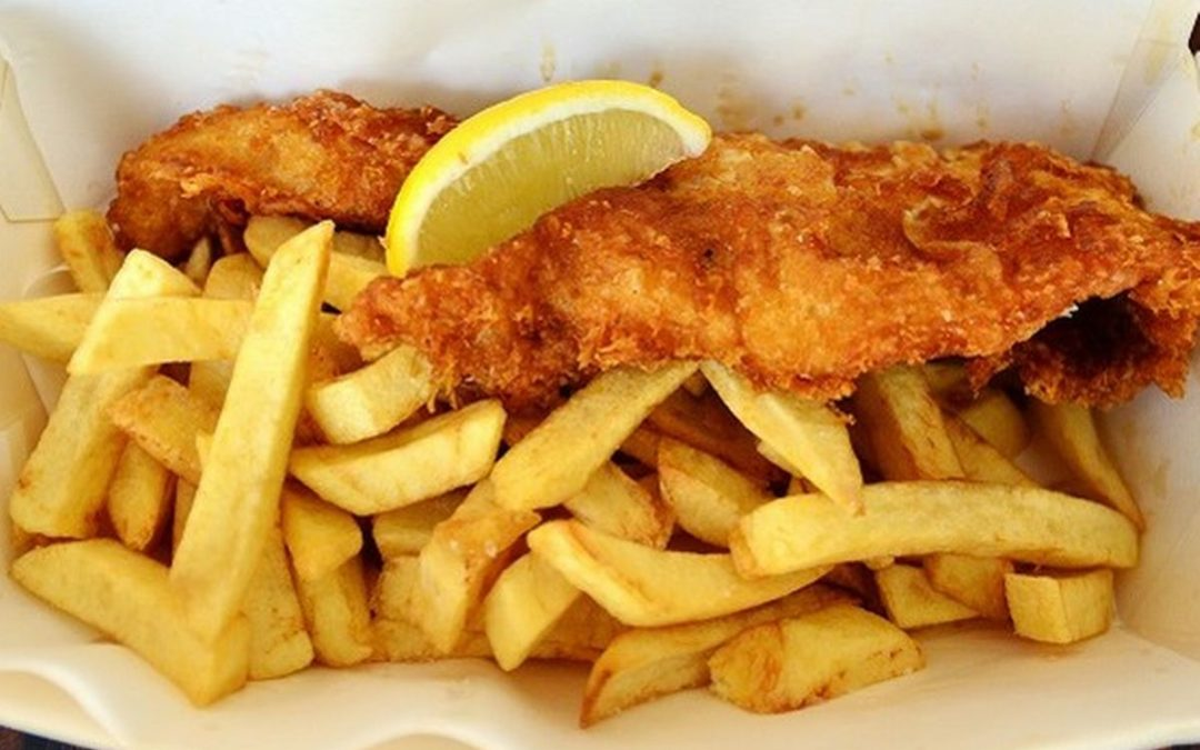 Il fish and chips irlandese parla italiano