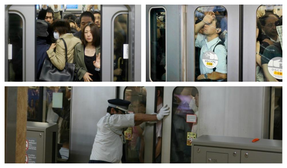 Treni giapponesi: guida pratica alla sopravvivenza nelle ore di punta